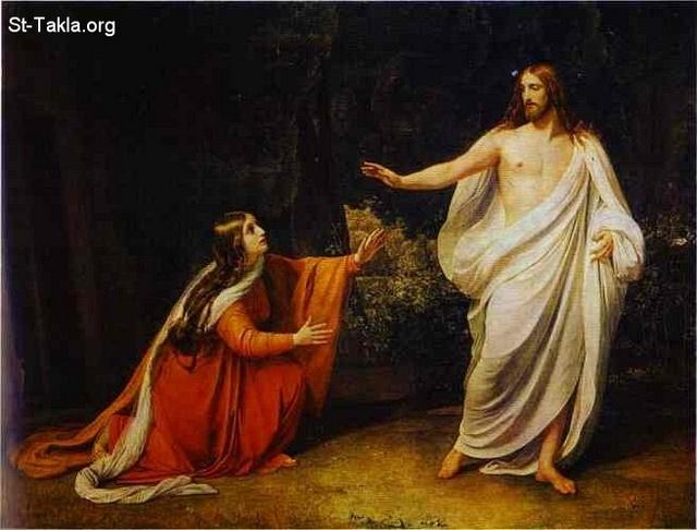 St-Takla.org Image: The Appearance of Christ to Saint Mary Magdalene (1834-1836) by Alexander Ivanov ���� �� ���� ������ ����: ���� ���� ���� ������� ���� �������� - 1834-1836 - ������ ������� ������� (������� ���� ���)