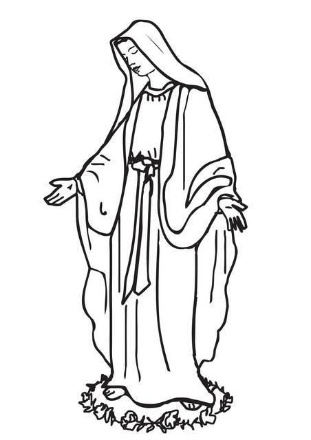 "St-Takla.org Image: Coloring picture of Saint Maria (Apparition of Virgin Mary at Zaitoun Coptic Church, Egypt) - Courtesy of ""Encyclopedia of the Saints' Colouring Images"" ���� �� ���� ������ ����: ���� ����� ������� ������� ���� � ����� ����� � ���� ������ ������ ����� ���� ��� ���� ������� �� ������� �� ��� - ������ ����: ������ ��� �������� �������"