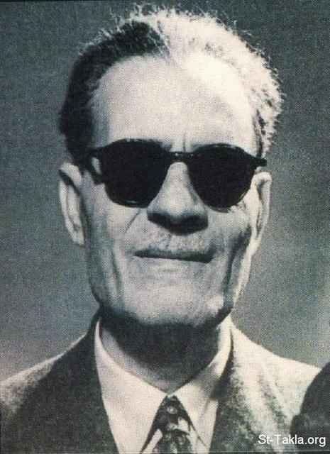 Image: Taha Hussein <br> صورة طه حسين، عميد الأدب العربي