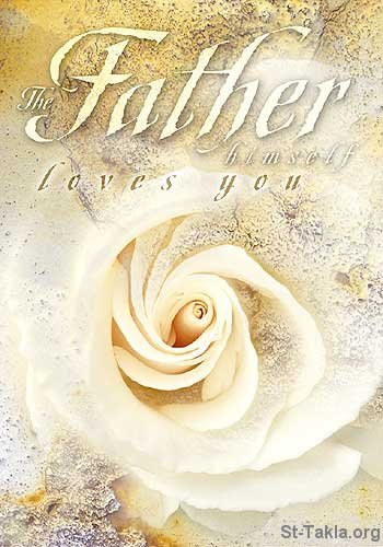 Image: Valentine Card, the Father loves you <br> صورة كارت عيد الحب: الآب يحبك