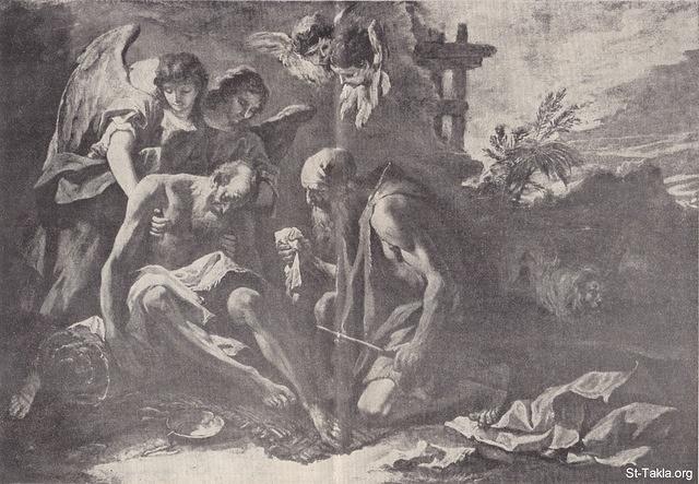 القديس الأنبا أنطونيوس جاهد وأنتصر