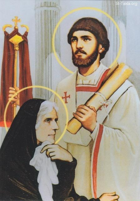 St-Takla.org Image: Saint Augustine and St. Monica ���� �� ���� ������ ����: ������ �������� ���� ���� �������� ������ ���