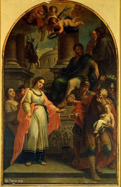 St-Takla.org Image: Martyrdom of St. Pepetua and Felicita (the trial, where we can see the governor on a chair, St. Perpetua in front of him, an angel holding a crown over Her head, and Her father carrying Her son), by Giovanni Giottardi, 1780-90, Pinacoteca Faenza ���� �� ���� ������ ����: ���� ������� ��������: ������ ���� ��� ������ �������� ������ ����� ����� ���� ������� ����� ��� ��� ������ɡ ������� ���� ����� - ��� ������ ������� �������� (1780-90)� ���������� ������