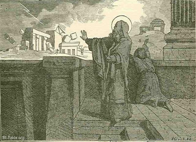 St-Takla.org Image: Miracle of the quake and burning of building tools of the Jews that wanted to rebuild the Temple, under the command of Julian the unbeliever, during the time of Saint Cyril of Jerusalem ���� �� ���� ������ ����: ����� ������� ������� ���� ���� ������ ������ ����� ������ �� ������ ���� ������ ����� ��� ��� �������� �����ϡ ���� �� ��� ������ ����� ���� �������