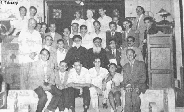 St-Takla.org Image: Hegomen Father Mikhail Ibrahim and Fr. Morkos Dawod with some Church servants, at the beginning of his service in St. Mark Church, Shoubra, Cairo, Egypt ���� �� ���� ������ ����: ����� ������� ������� ������ ���� ���� ��� ����� ���� �������- �� ����� ������ ������ ������� �����