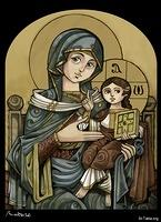 Image: The Theotokos, St. Mary <br> صورة الثيئوتوكوس مريم