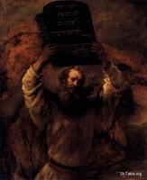 Image: Moses Smashing the Tablets of the Law Rembrandt صورة لوحة موسى يحطم لوحيّ الشريعة، رامبرانت