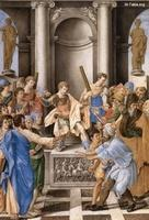 Image: 019 Elymas Struck Blind by St Paul before the Proconsul Sergius Paulus Giulio Clovio صورة