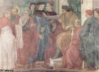 Image: The Apostles Paul and Peter confront Simon Magus before Nero by Filippino Lippi 02 صورة