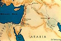 Image: Map: Haran, Canaan and Egypt<br>صورة خريطة: حاران وكنعان ومصر