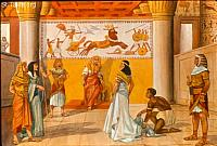 Image: Sarai taken to the Pharaoh by his princes<br>صورة سارة تؤخذ لقصر فرعون