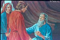 Image: Isaac sends Jacob to his Labah his mother's father<br>صورة اسحق يرسل يعقوب لخاله لابان