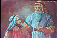 Image: The agreement between Laban and Jacob<br>صورة اتفاق لابان ويعقوب