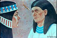 Image: Potiphar with his wife<br>صورة فوطيفار مع زوجته