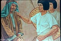Image: Joseph took Simeon from them and bound him before their eyes<br>صورة شمعون يبقي لدى يوسف
