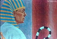 Image: Pharaoh hears the news about Joseph's family<br>صورة فرعون يسمع إخبار يوسف