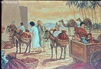 Image: Joseph gave them carts, according to the command of Pharaoh, and he gave them provisions for the journey<br>صورة يوسف يرسل طعاما على عجلات