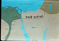 Image: Map: from Canaan to the land of Goshen<br>صورة خريطة: من كنعان إلى ارض جاسان