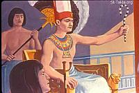 Image: When Pharaoh heard of this matter, he sought to kill Moses<br>صورة غضب فرعون على موسى