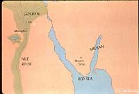 Image: Map: Egypt and the land of Midian<br>صورة خريطة: مصر ومديان