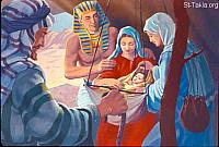 Image: Moses, Zipporah and their child Gershom<br>صورة موسى وصفورة وابنهما