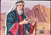 Image: Moses' hand was leprous, like snow<br>صورة يد موسى تصير برصاء