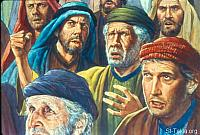 Image: On the next day all the congregation of the children of Israel murmured against Moses and Aaron, saying,