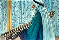 Image: And Moses placed the rods before the LORD in the tabernacle of witness<br>صورة موسى يضع العصيان في خيمة الاجتماع