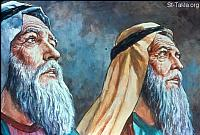 Image: Moses and Aaron talk to the Lord <br> صورة موسى وهارون يكلمان الرب