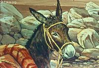 Image: Then the LORD opened the mouth of the donkey, and talked to Balaam<br>صورة الأتان تتكلم مع بلعام