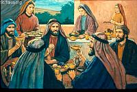 Image: His sons would go and feast in their houses, each on his appointed day<br>صورة كانوا أولاده يعملون وليمة في أحد الأيام