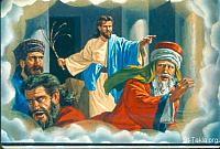 Image: The zeal for Your house has eaten me up: Jesus throwing out the sellers from the Temple<br>صورة غيرة بيتك أكلتني: المسيح يطرد البائعين من الهيكل