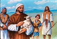 Image: Ezekiel with His sheep<br>صورة حزقيال مع غنمه