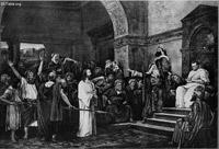Image: 050 christ brought before pilate