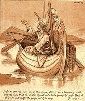 Image: Jesus preaches from boat