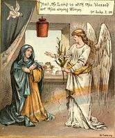 Image: angel greets mary