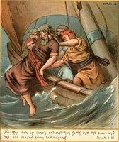 Image: jonah is thrown overboard