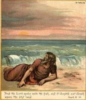 Image: jonah is washed to sand