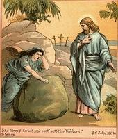 Image: mary sees Jesus is risen