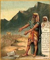 Image: moses breaks commandment tablets