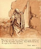 Image: moses strikes rock