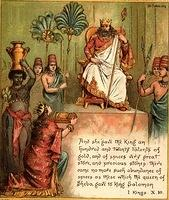 Image: queen sheba gives gifts to king solomon
