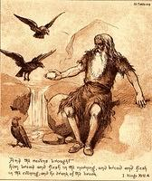 Image: ravens brought food to elijah