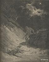 Image: The murder of Abel, Paul Gustave Doré 's Bible Illustrations, 003 صورة مقتل هابيل الصديق، جوستاف دوريه