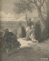 Image: Noah cursing Ham, Paul Gustave Doré 's Bible Illustrations, 005 صورة نوح يلعن حام، جوستاف دوريه