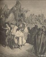 Image: Joseph sold into Egypt, Paul Gustave Doré 's Bible Illustrations, 016 صورة بيع يوسف في مصر، جوستاف دوريه