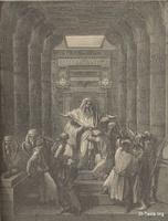 Image: Joseph making himself known to his brethren, Paul Gustave Doré 's Bible Illustrations, 018 صورة يوسف الصديق يكشف نفسه لأخوته، جوستاف دوريه