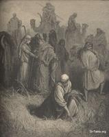 Image: Ruth and Boaz, Paul Gustave Doré 's Bible Illustrations, 029 صورة راعوث و بوعز، جوستاف دوريه