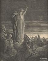 Image: Ezekiel prophesying, Paul Gustave Doré 's Bible Illustrations, 047 صورة حزقيال يتنبأ، جوستاف دوريه