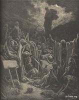 Image: The vision of Ezekiel, Paul Gustave Doré 's Bible Illustrations, 048 صورة رؤيا حزقيال النبى، جوستاف دوريه